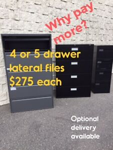 5 DRAWER FILE CABINETS, PLAN HANGERS, PLAN DRAWERS, USED