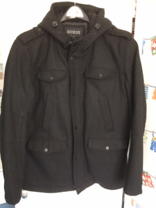 Manteau d'hivers court Men's winter jacket( Peacoat/Caban)-homme