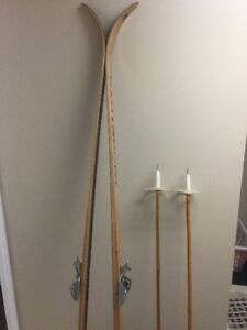 Cansport Cross country wooden skis and Nordic bamboo poles
