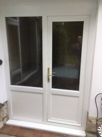 PVC external door and side panel.