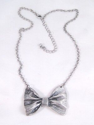 Brand New Adorable Retro Vintage Style Bow Tie Bowtie Necklace #N2036