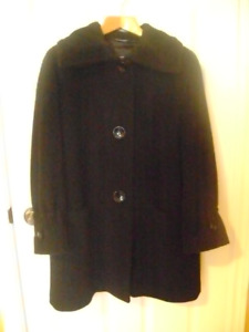 ME-JAY BLACK ALPACA/MOHAIR WINTER JACKET