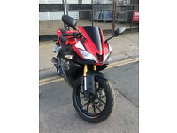 2015 ABS Yamaha YZF R-125 r125 in Red great condition + Akrapovic Exhaust