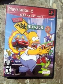 the simpsons hit and run greatest hits ps2 game
