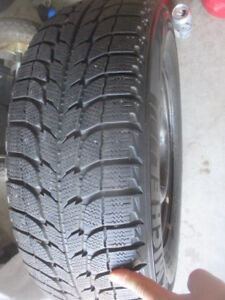 4 MICHELIN WINTER-X ICE TIRES WITH RIMS