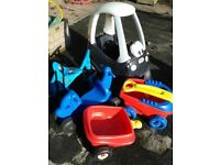 5 ASSORTED TRIKE + RIDES and TRUCKS