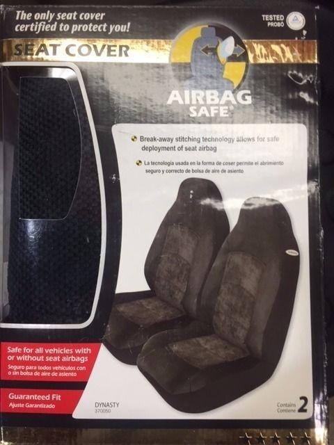 Elegant E370050Z Seat Cover High Back Bucket; Black; Set of 2 (RW33C-010)