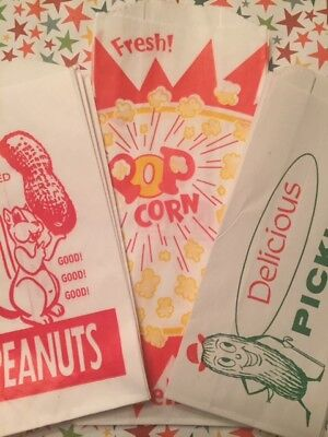 - Circus Party-18 Bags-6 Peanut-6 Popcorn & 6 Pickle Bags~Fun Vintage Style Bags