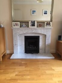 Original 1930s Marble Fireplace for Sale