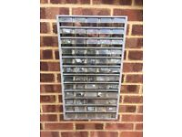 HEAVY DUTY METAL STORAGE UNIT WITH 60 PULL OUT DRAWERS