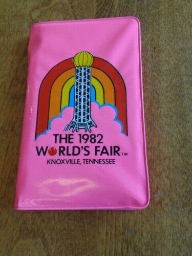 VINTAGE 1982 WORLD'S FAIR PLASTIC ADDRESS NOTE BOOK