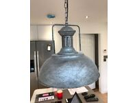Grey Pendant Lights (x 2 available): Brand new and boxed. Beautiful 2 tone grey