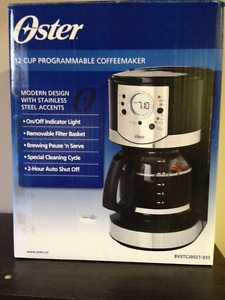 NEW Oster 12 cup programmable coffee maker