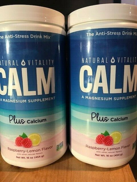 Natural Vitality Calm Plus Calcium, Raspberry-Lemon Flavor L