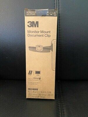 3m Monitor Mount Document Clip Brand New