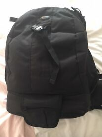 Camera backpack Lowpro flipside 400 aw backpack.