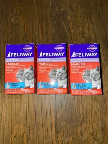 Feliway Multicat 30 Day Refill for Diffuser 48 mL 3-Pack exp 7/23