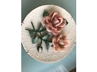 "Limited Edition Capodimonte Porcelain plate - ""The Roses of Capodimonte"""