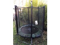 6ft trampoline with full safety enclosure