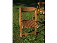 Beech folding Garden chairs