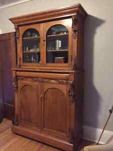 Antique Cabinet Hutch Buffet Dining Room