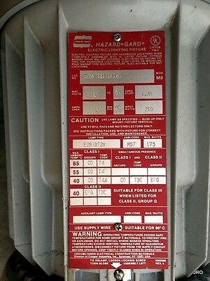 Crouse-hinds Hazard Gard Evma 93171120 Industrial Light Explosion Proof Marine