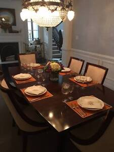 ELTE DESIGNER DINING TABLE. Solid Mahogany. From Rosedale Home
