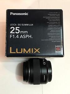 Panasonic Leica 25mm f/1.4 Asph. Micro 4/3 Lens - Mint Condition