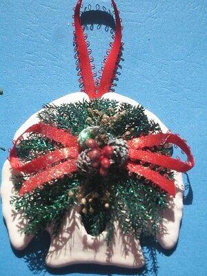 CRAFTED Glitter Seashell Christmas Ornament SAND DOLLAR ()