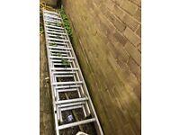 Aluminium Ladder (triple 12) 32-34 foot working height