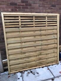 5 x Brand New Forest Europa Kyoto 6ft x 6ft Fence Panel