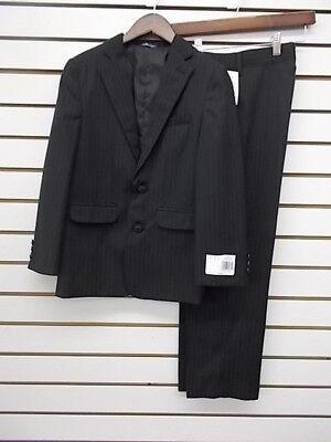 Boys  $85 2pc Black Pin Striped Suit Size 10 - - Black Boys Suits