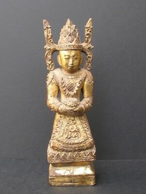 Buddha Crowned Wooden of Burma