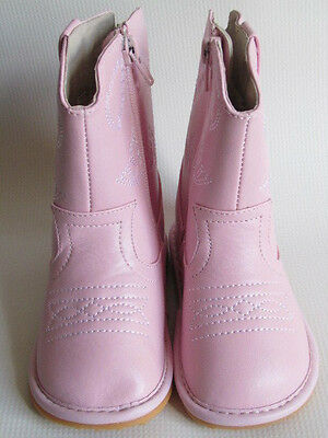 Toddler Boots - Squeaky Boots - Light Pink Cowgirl Boots, Up to Size 10](Light Up Cowgirl Boots)