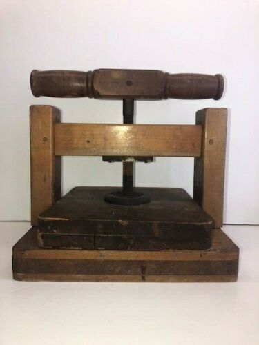 Great Small 19th Century Wooden Book Press