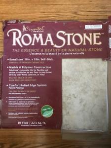 Roma Stone PVC Self-sticking Floor Tiles