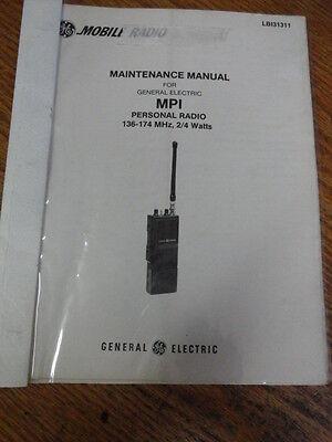 Ge Vintage Mpi Personal Radio Maintenance Manual Vhf 136-174 Lbi-31311 384
