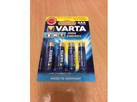 BNIP Varta High Energy AAA Batteries