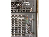 Soundcraft Spirit SX desk in flight case