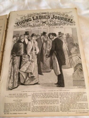 1889, Young Ladies Journal Bound Book, Vintage and Historical, Fashions