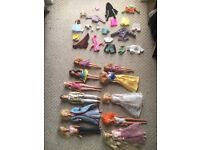 Barbies & accessories including collectable vintage items