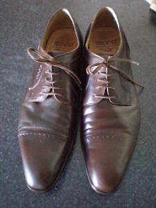 ECCO Brown Laceup dress shoes 45