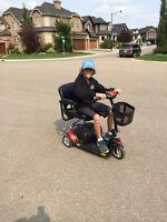 Motorized scooter for senior