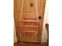 lovely vintage wooden child's swing - indoor or out