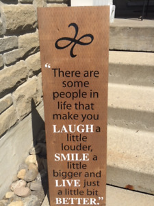 Solid Wood Friendship Wall Plaque