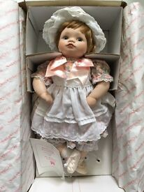 Porcelain Doll (hand-painted): The Hamilton Collection - 'Jessica' - 1988/89