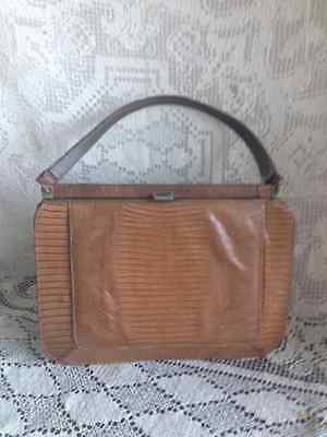 1930s Handbags and Purses Fashion  Vintage Art Deco 1930's Authentic Crocodile Skin Purse ~LUXURY HAND BAG! Brown $19.99 AT vintagedancer.com