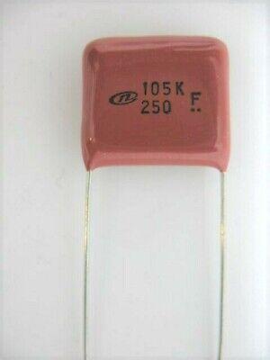 12pcs - 1uf 105 250v Rohs Nichicon Metallized Polyester Film Capacitor