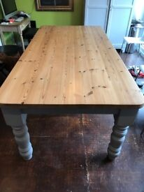 Beautiful Kitchen/Dining Table. Huge Solid Pine. Seats 10 or more!