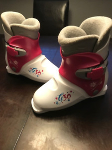 Youth Ski Boots (21.5) , Helmet, and Googles (6-10 year old)